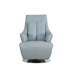 Bernardo Leather Power Recliner Orren Ellis