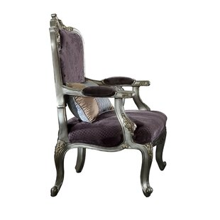 Sherrie Velvet Upholstered Wooden Armchair by House of Hampton