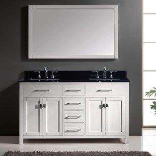 Clearance Kenilworth 60 Double Bathroom Vanity Set with Mirror ByHighland Dunes