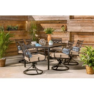 Keeble 7 Piece Dining Set with Cushions