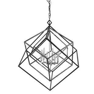 Brayden Studio Pederson 6-Light Geometric Chandelier