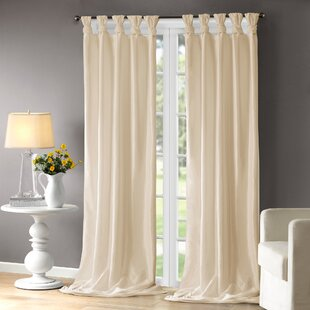 Rivau Solid Sheer Tab Top Single Curtain Panel