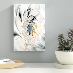 White Stained Glass Art - Unframed Print