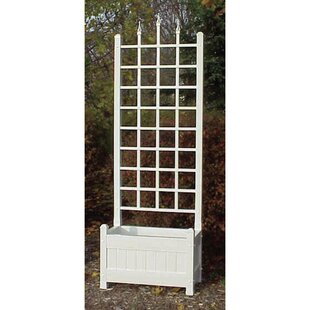 Dura-Trel Camelot Planter Vinyl Lattice Panel Trellis