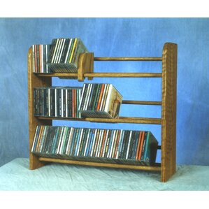 Wood Shed 300 Series 165 CD Multimedia Tabletop Storage Rack Image