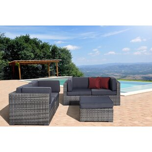Bogazi 5 Piece Sunbrella Sectional Set with Cushions by Beachcrest Home