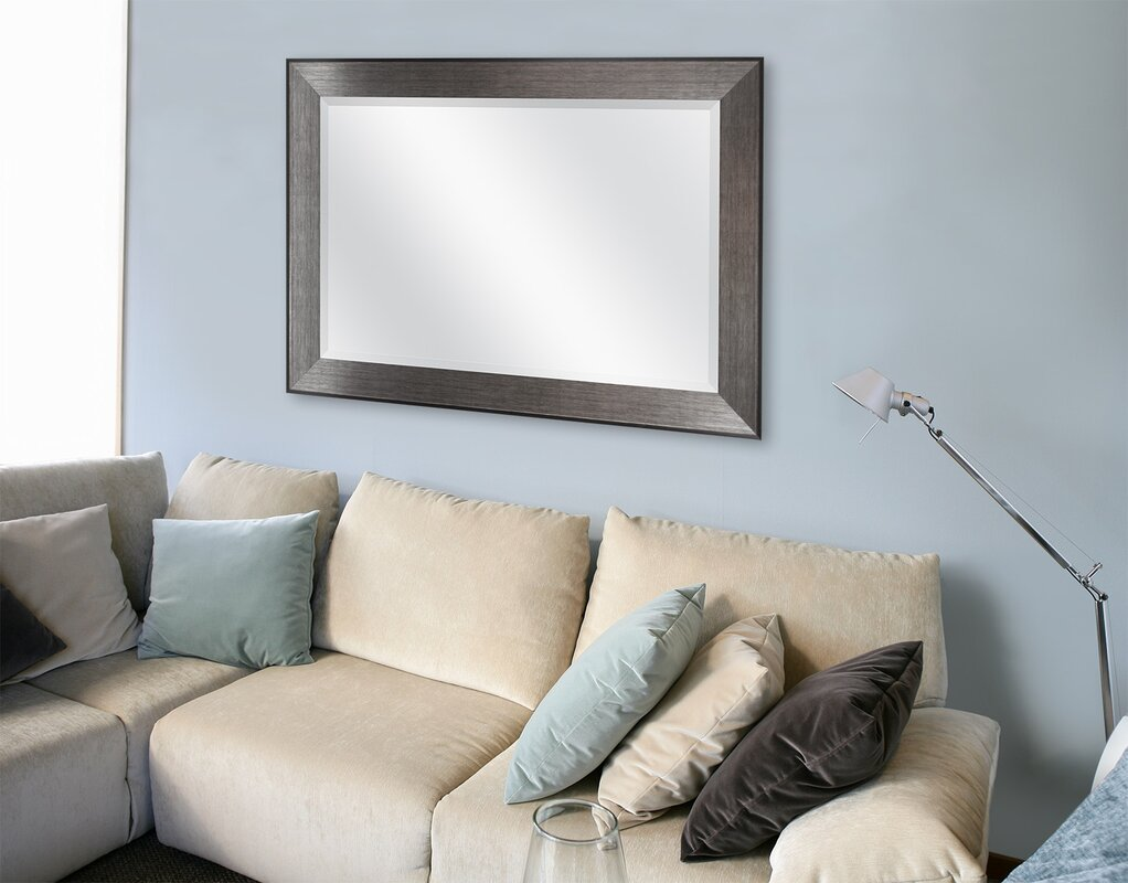 Rectangle Pewter Beveled Wall Mirror Part 72