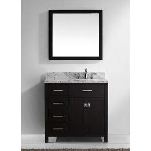 Savitsky 37 Single Bathroom Vanity Set with Mirror by Latitude Run