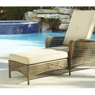 Edwards Chaise Lounge with Cushion by Highland Dunes