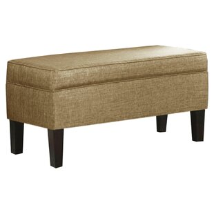 Glitz Linen Upholstered Storage Bench