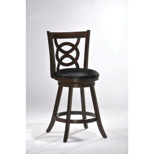 Slaboden Swivel Bar Stool Red Barrel Studio