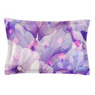 Mmartabc 'Rhombuses and Purple Leaves' Illustration Sham