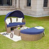 Fansler Patio Daybed with Cushions byBeachcrest Home