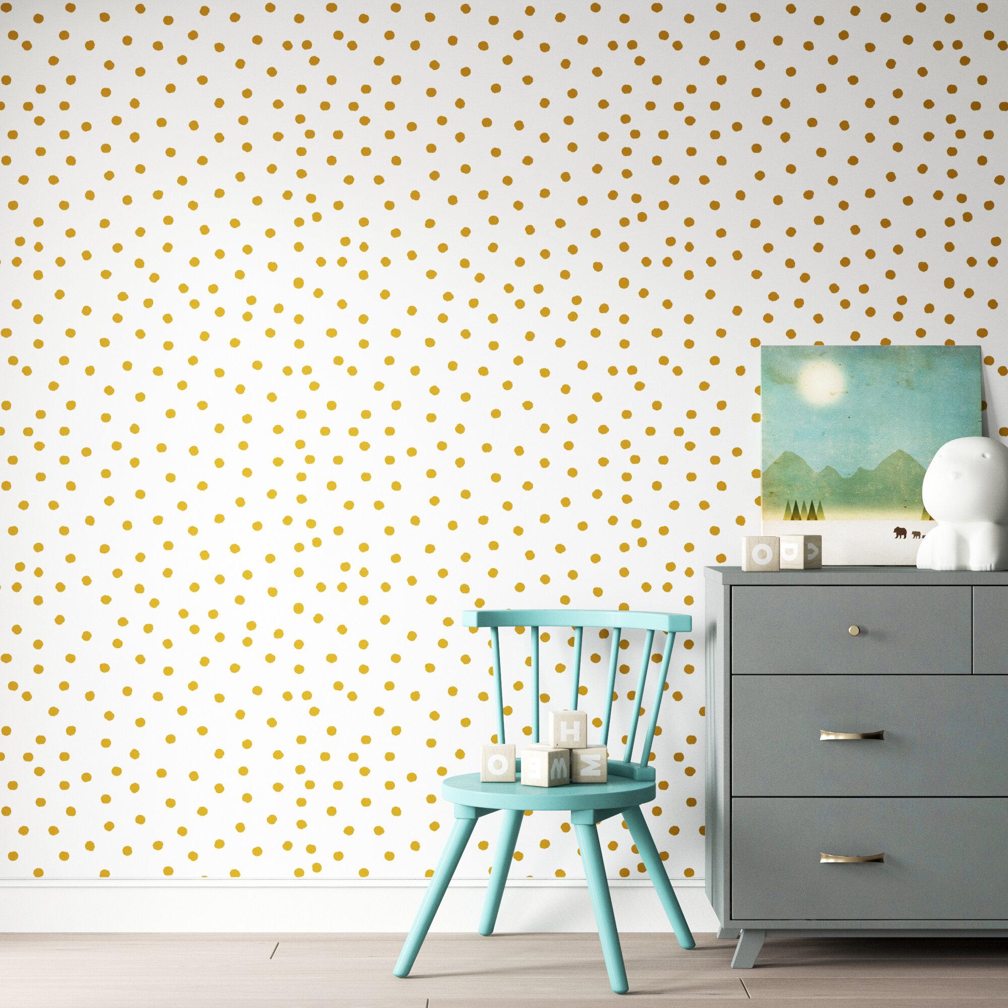 Mack Milo Akerman 16 5 L X 20 5 W Dot Geometric Peel And Stick Wallpaper Roll Reviews Wayfair