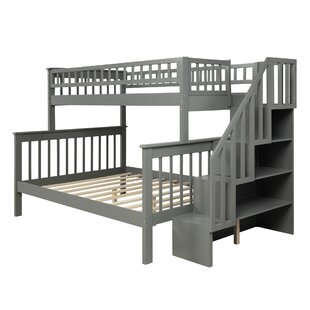 Paulsen Twin over Full Bunk Bed with Shelves