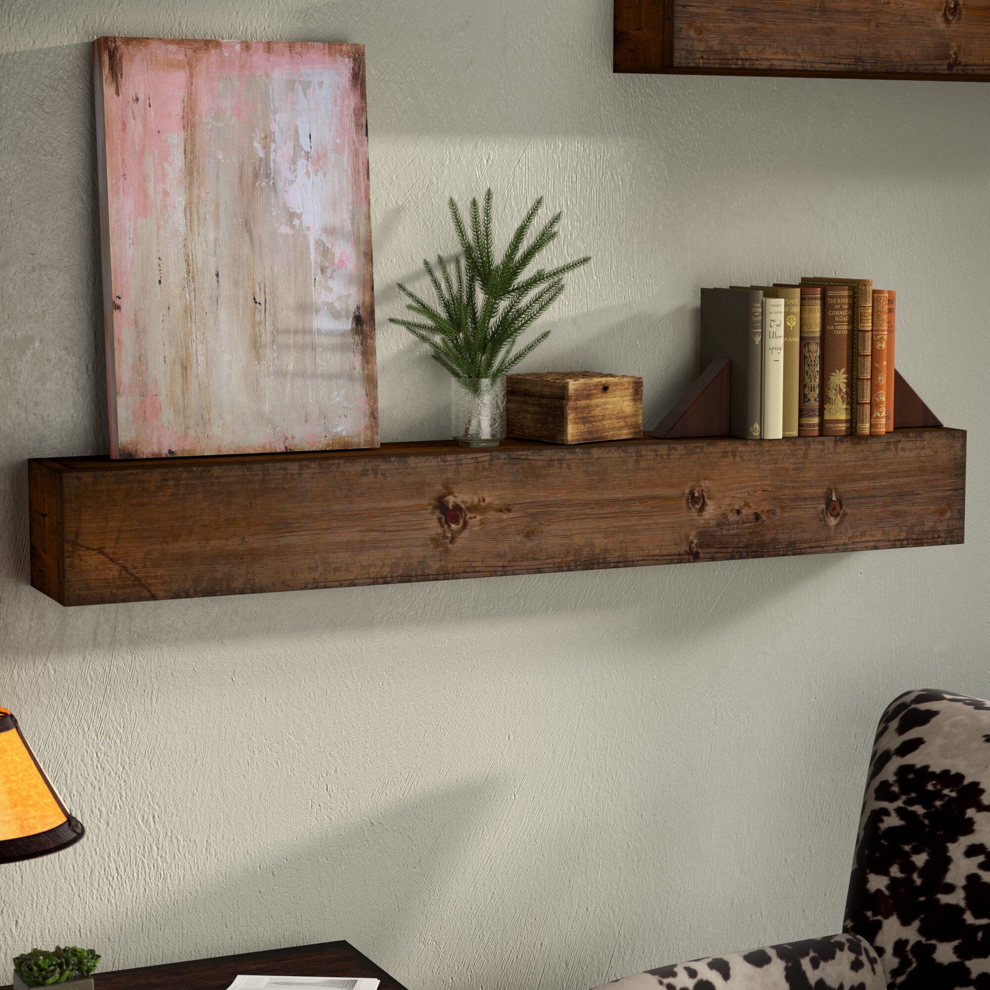 Union rustic zimmerman wood mantle floating shelf reviews wayfair