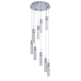 Orren Ellis Saturn 9-Light LED Pendant