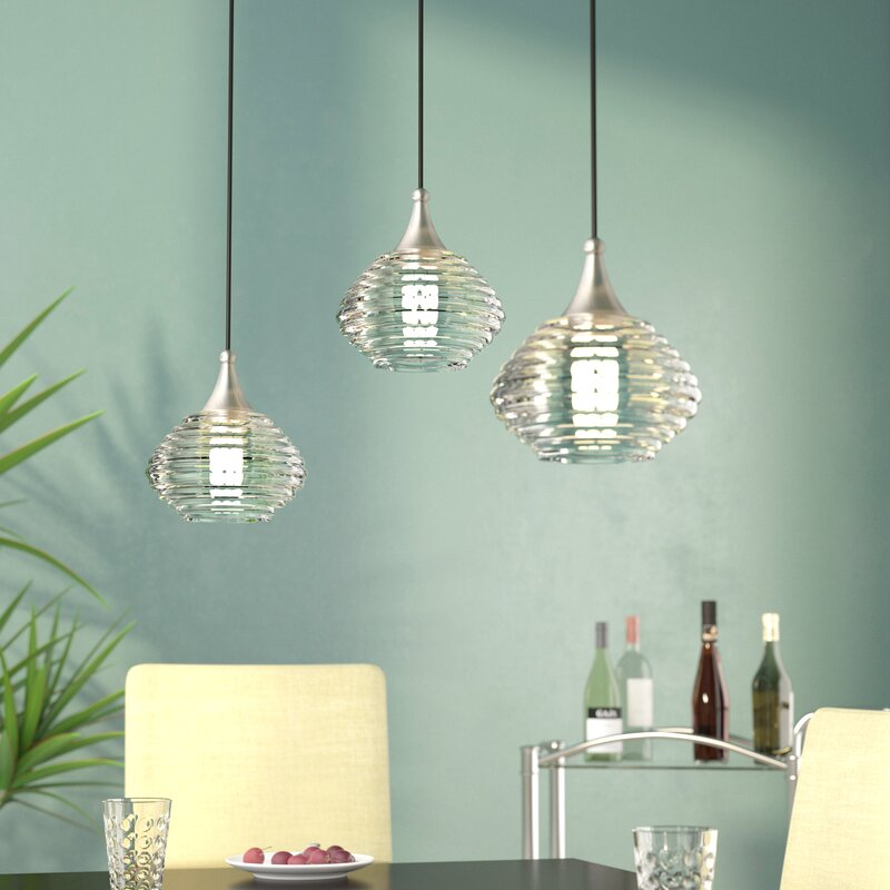 Limewood 1 Light Globe Shade Gl Mini Pendant