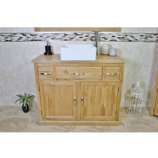 Holden Solid Oak 1000mm Free-Standing Vanity Unit By Belfry Bathroom