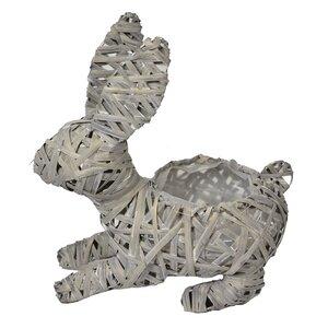 Rattan Bunny Figurine