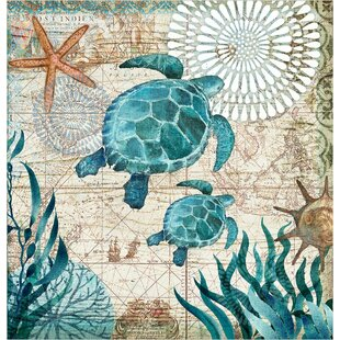 Briarton Turtles Shower Curtain by Rosecliff Heights