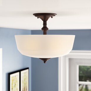 Genevieve 2-Light Semi-Flush Mount by Charlton Home