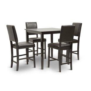 Ebern Designs Spicer 5 Piece Counter Height Dining Set