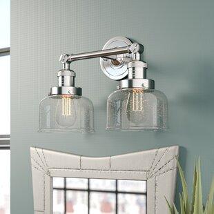 17 Stories Adelhard Bell 2-Light Vanity Light