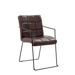 Kinley Genuine Leather Upholstered Dining Chair (Set of 2)