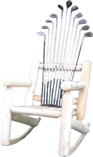 Golf Club Wood Rocking Adirondack Chair
