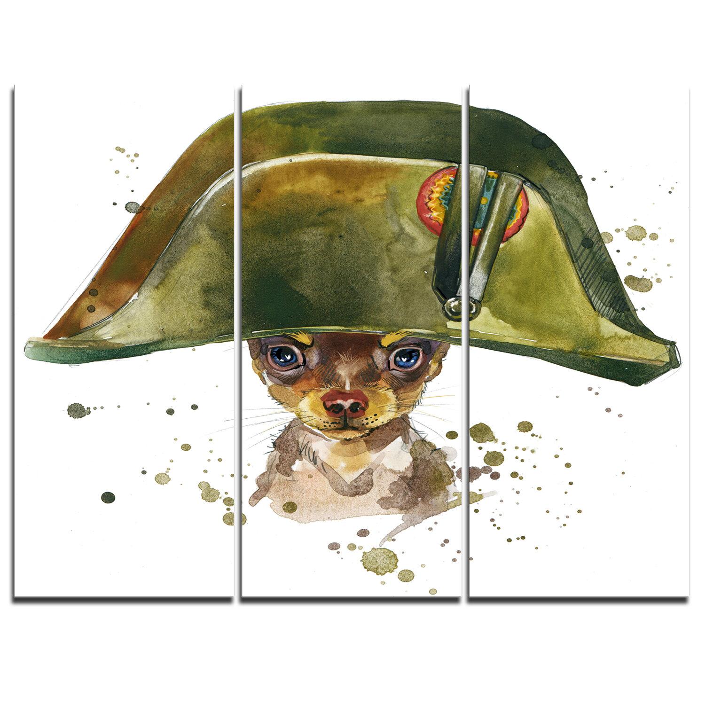Designart Toy Terrier Dog Graphics Art 3 Piece Painting Print On Wrapped Canvas Set Wayfair