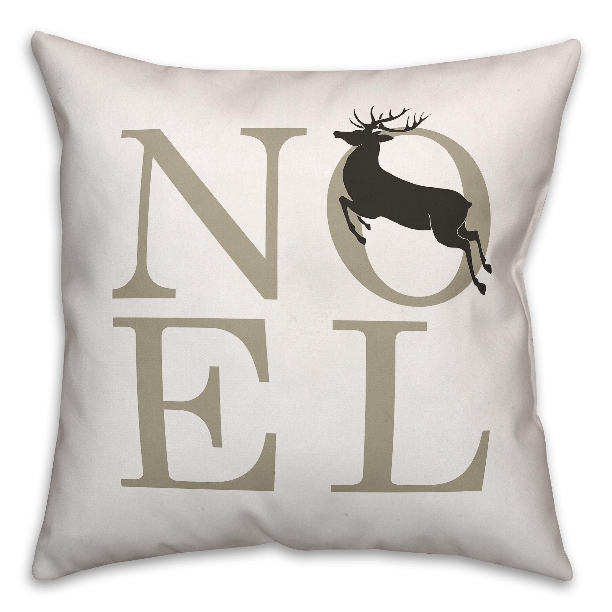 The Holiday Aisle Winthrop Noel Throw Pillow Wayfair