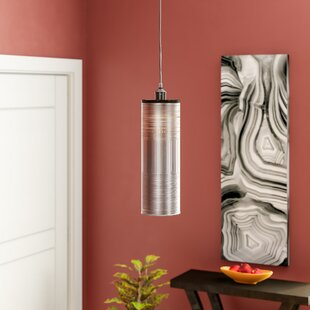 Bogue 1-Light Cylinder Pendant by Wrought Studio