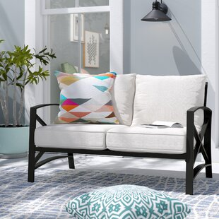 Ivy Bronx Freitag Loveseat with Cushions
