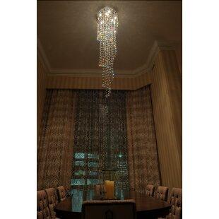 Leiser 10-Light Cluster Pendant by Orren Ellis