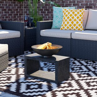 Firebowl Clay Fire Pit Table With Rectangle Console By Metro Lane