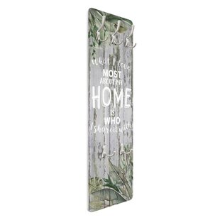 Shabby Tropical - Home Is Wall Mounted Coat Rack By Symple Stuff