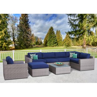 Campa Olefin 8 Piece Conversation Set with Cushions