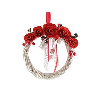 29cm Willow And Felt Christmas Wreath By The Seasonal Aisle