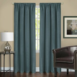 Andersonville Solid Blackout Thermal Rod Pocket Single Curtain Panel by Red Barrel Studio