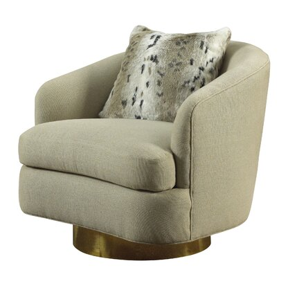 Rive Gauche Zoey Swivel Barrel Chair. French Heritage
