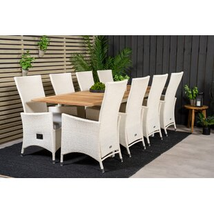 Navya 8 Seater Dining Set With Cushions By Sol 72 Outdoor