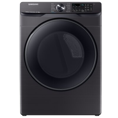 7.5 cu. ft. High Efficiency Electric Dryer with Steam Sanitize+ Samsung Color: Black Stainless Steel
