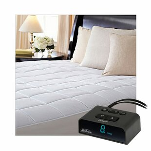 Comfort-Tec Quilted Electric Twin Polyester Heated Mattress Pad