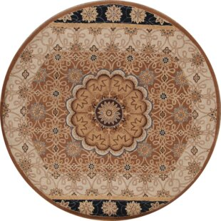 Bovill Oriental Hand-Tufted Wool Brown/White Area Rug By Canora Grey