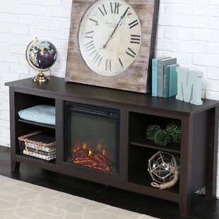 Sunbury TV Stand with Electric Fireplace By Beachcrest Home