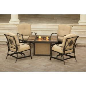 Lauritsen 5 Piece Fire Pit Seating Group With Cushions