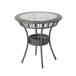 Postel Fisher Outdoor Glass Top Wicker Dining Table