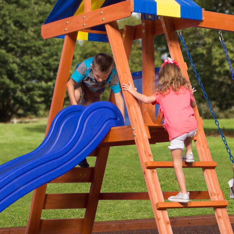 Backyard Discovery Dayton All Cedar Swing Set & Reviews ...