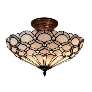 Amora Lighting 2-Light Semi-Flush Mount